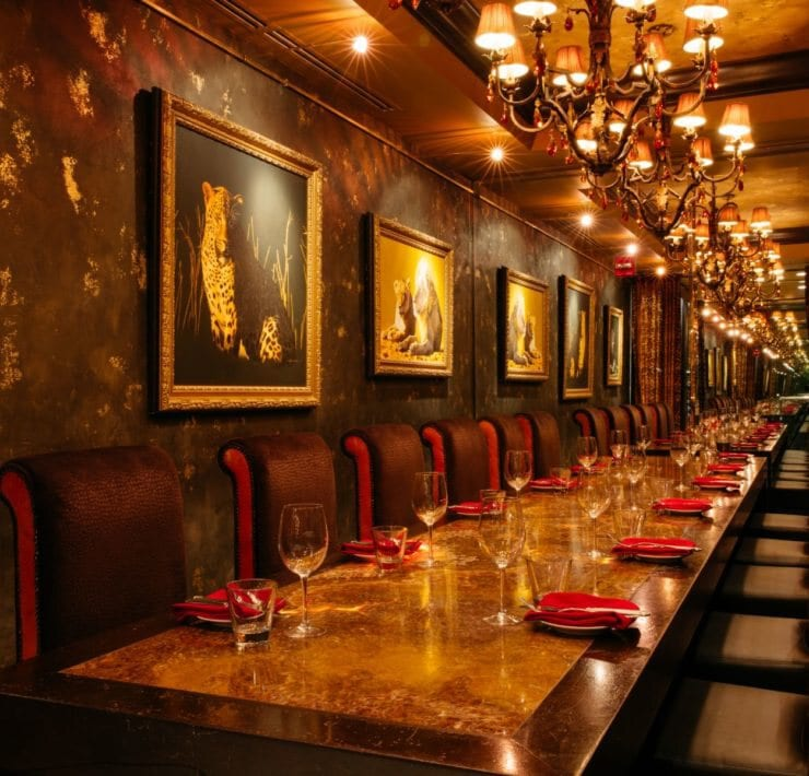 Private dining room at The Boheme Restaurant at Grand Bohemian Hotel Orlando