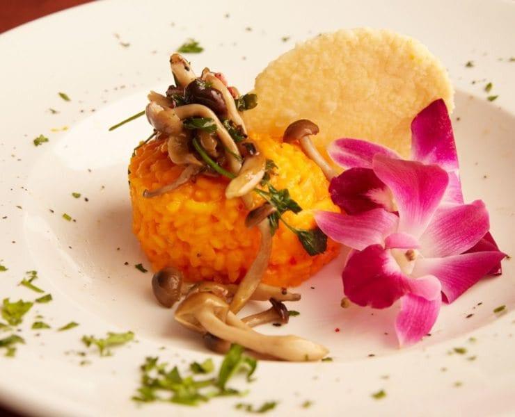 1 Talento Restaurants Crispy Risotto Topped with Savory Mushrooms Credit Jason Brietstein limestar.com