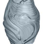 Poissons Combattants Medium Vase in Persepolis Blue Crystal