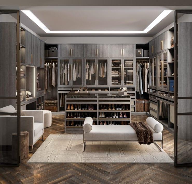 California Closets - Wall Seville Master Closet