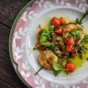 Elisabetta's Spiedini of Shrimp with Salsa Rosa Credit Christopher Summa