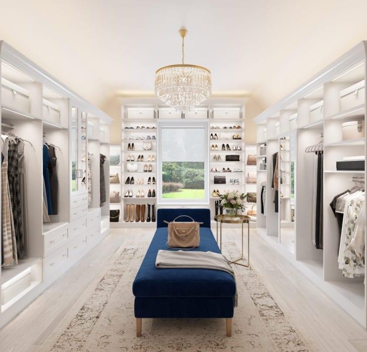 California Closets Traditional White Closet