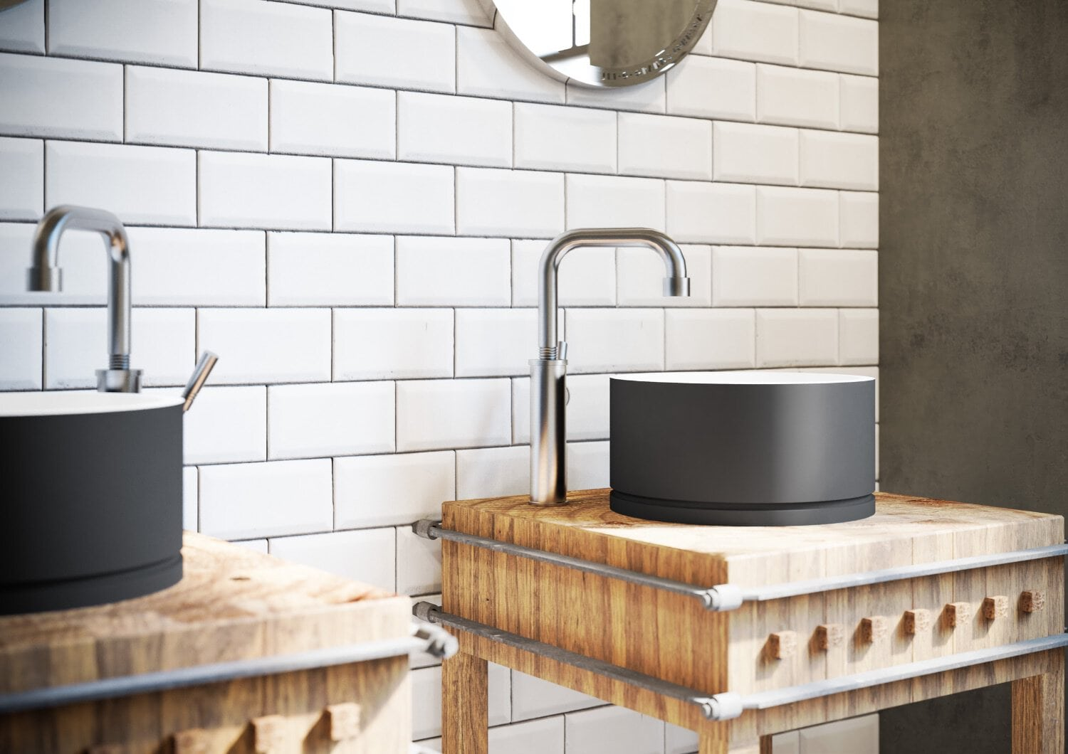 JEE-O Soho RAW basin and basin mixer, price upon request; available at Maison Kitchen & Bath.