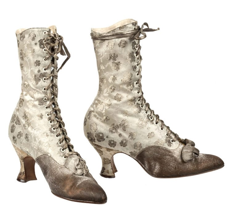 A pair of antique boots from the Stuart Weitzman Collection.