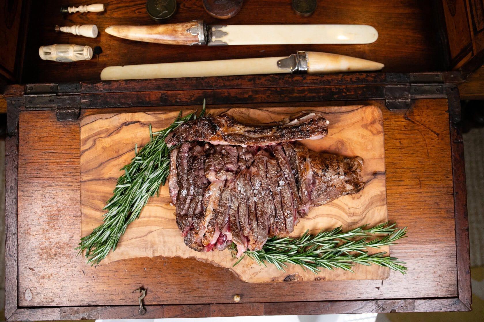 Grilled Organic Beef Tomahawk Steak 1 copy