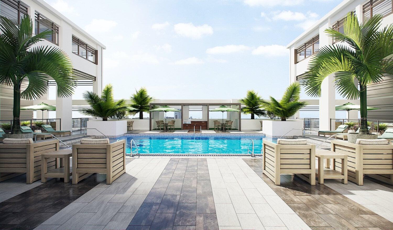 Belmont Village Fort Lauderdale pool area