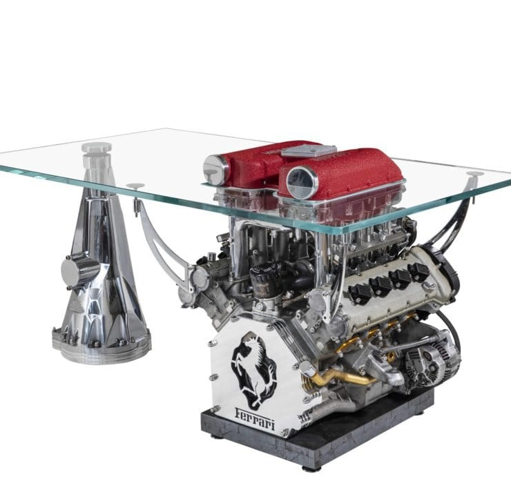 Tom Bates Design Engine Table Ferrari 360 Single Engine Desk 01