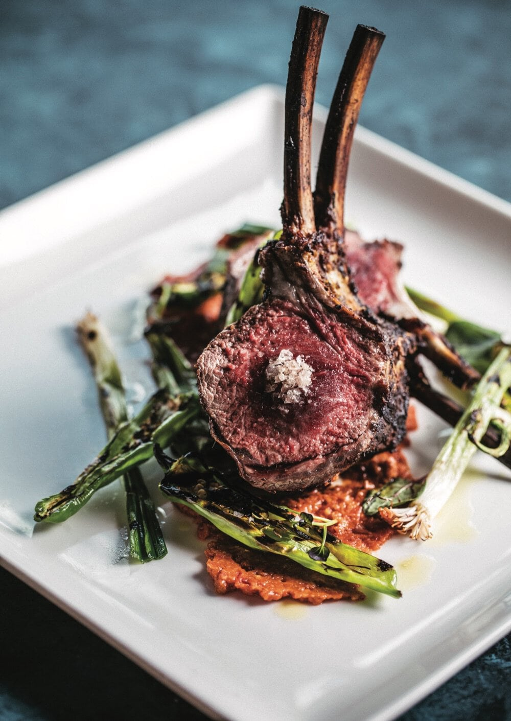 Grilled Rack of Lamb at 1000 NORTH