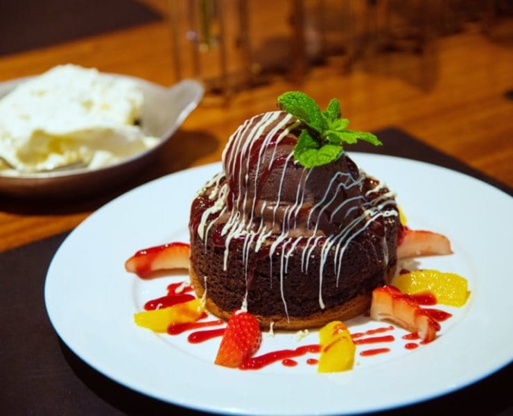 Mastro's Ocean Club's Chocolate Butter Cake