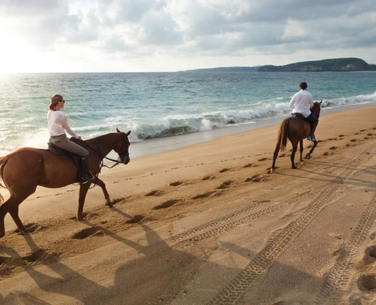 horseback riding at Careyes