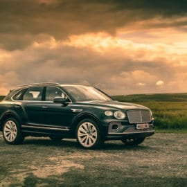 2021 Bentley Bentayga in Alpine Green - Courtesy Mark Fagelson Photography