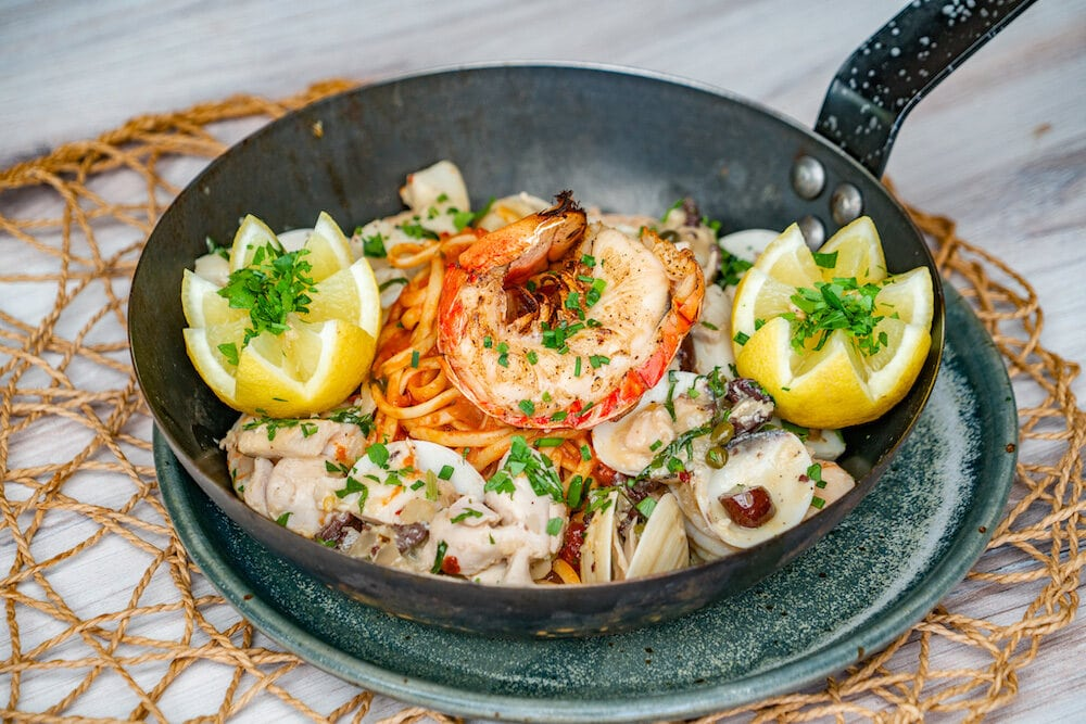 Brimstone Woodfire Grill's Seafood Puttanesca