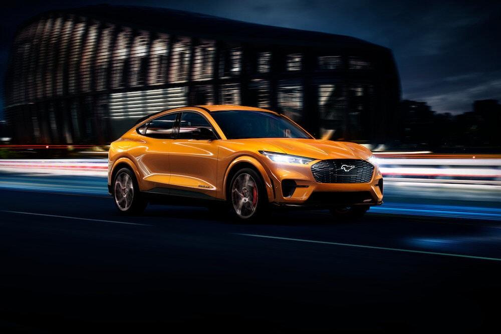 2021 Mustang Mach-E in Cyber Orange