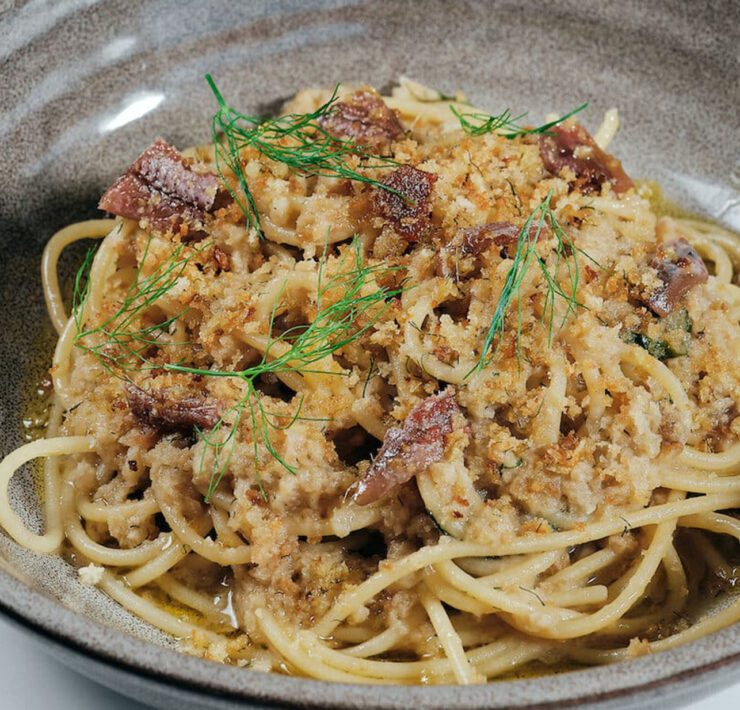 9-Four Seasons Hotel at The Surf Club's Spaghetti and Anchovies Pasta