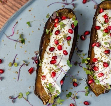 Doya's Eggplant with Strained Yogurt & Pomegranate