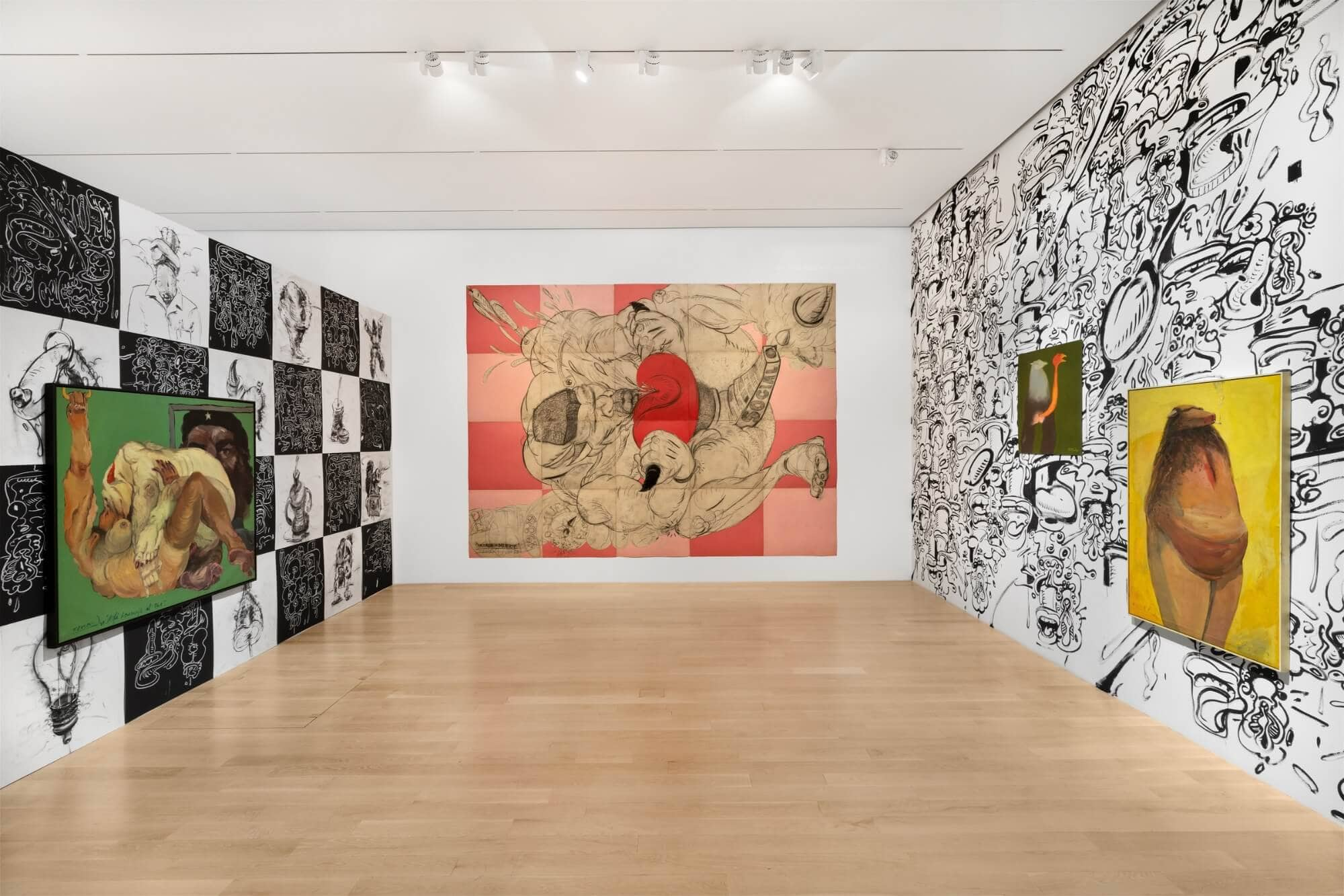 Installation view of Tomás Esson: The GOAT at ICA Miami