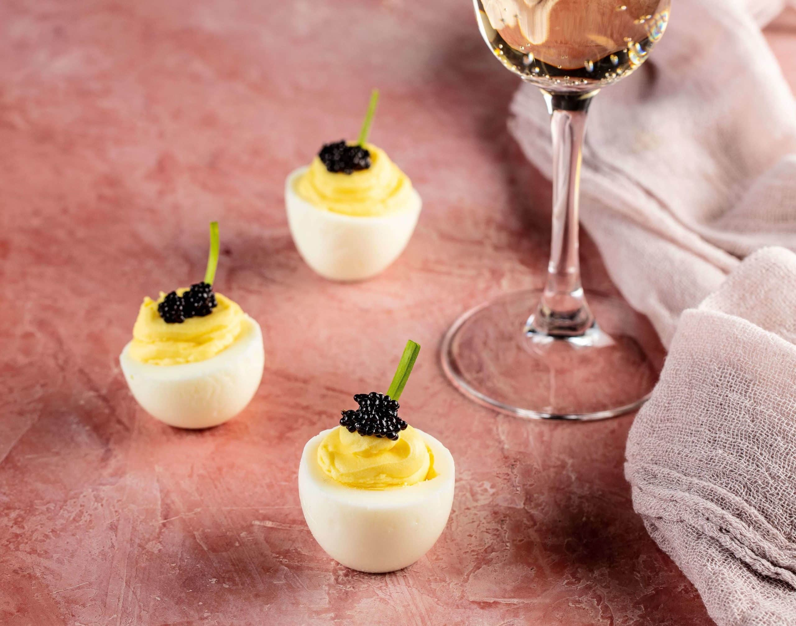 Icebox Cafe's Caviar Deviled Eggs Parfait