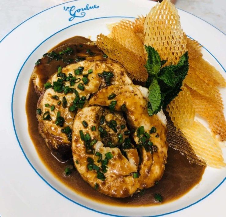 La Goulue's Turkey Roulade Stuffed With Foie Gras