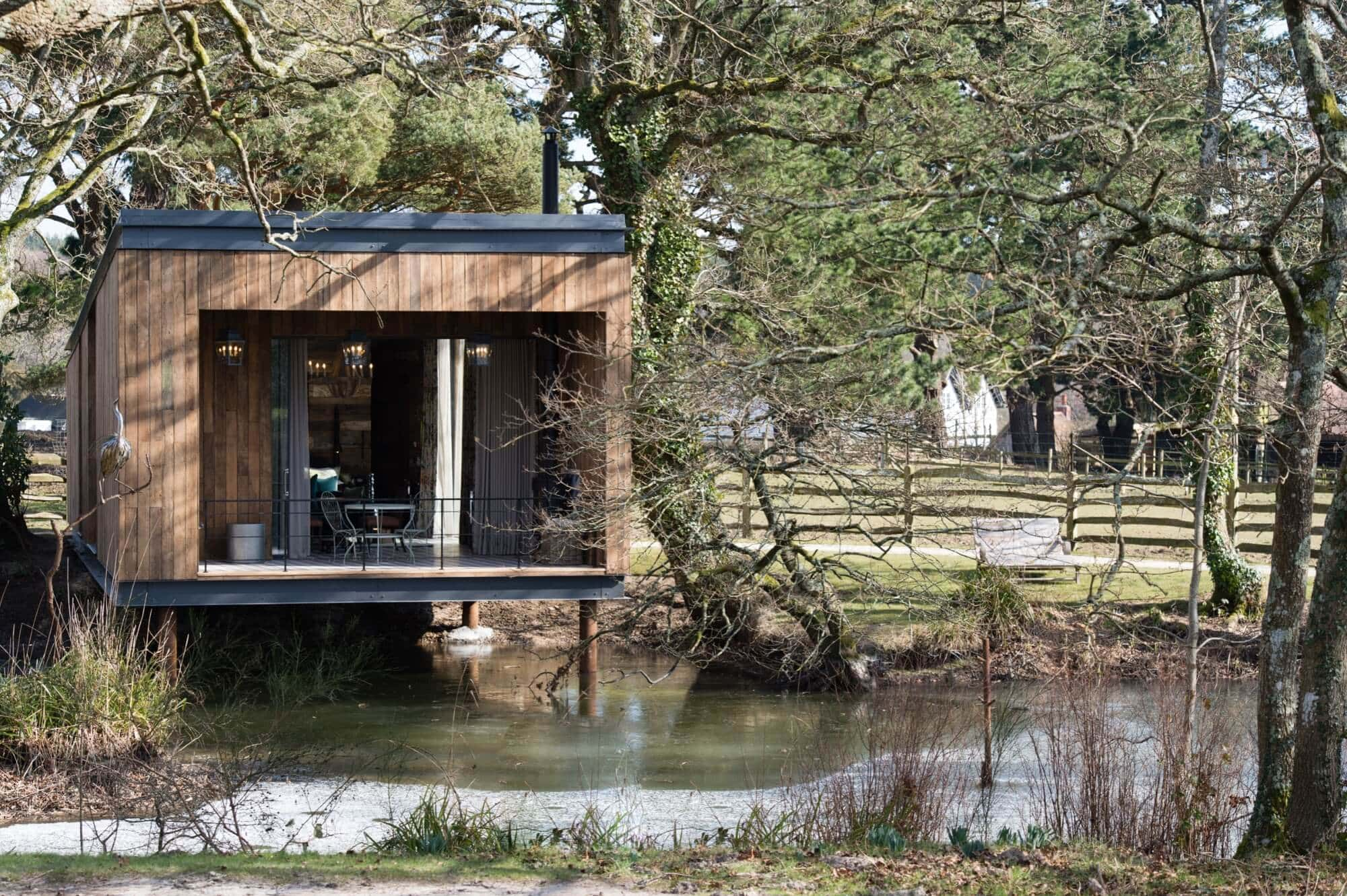 Lake Cabin at Lime Wood, England - Photo by Amy Murrell