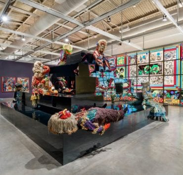 Installation view of Raúl de Nieves: Eternal Return and the Obsidian Heart at MOCA North Miami - Photo by Michael Lopez with Zachary Balber Photography