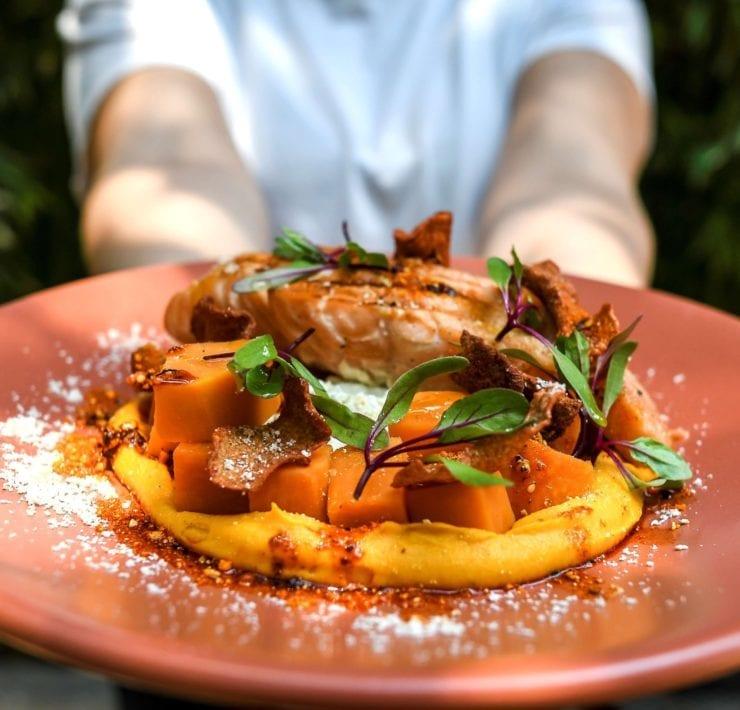 Ojo de Agua's Sweet Potato & Papantla Vanilla Salad