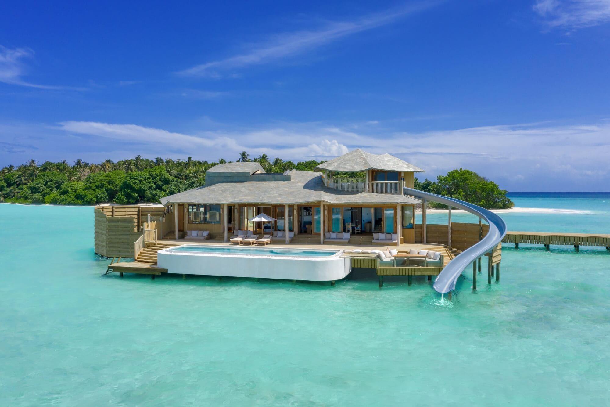 One-Bedroom Water Retreat with Slide atSoneva Fushi, Maldives - Photo by Sandro Bruecklmeier