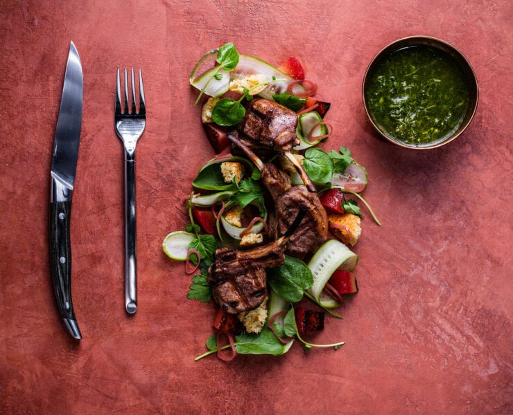 Grilled Lamb Chops Scottadito at BEACON