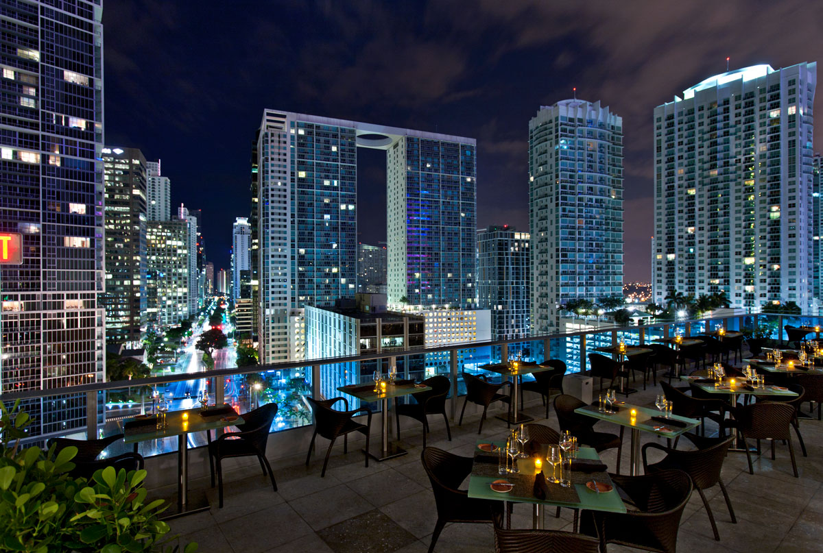 The rooftop terrace at Area 31. (Photo by Brett Fitzgerald)