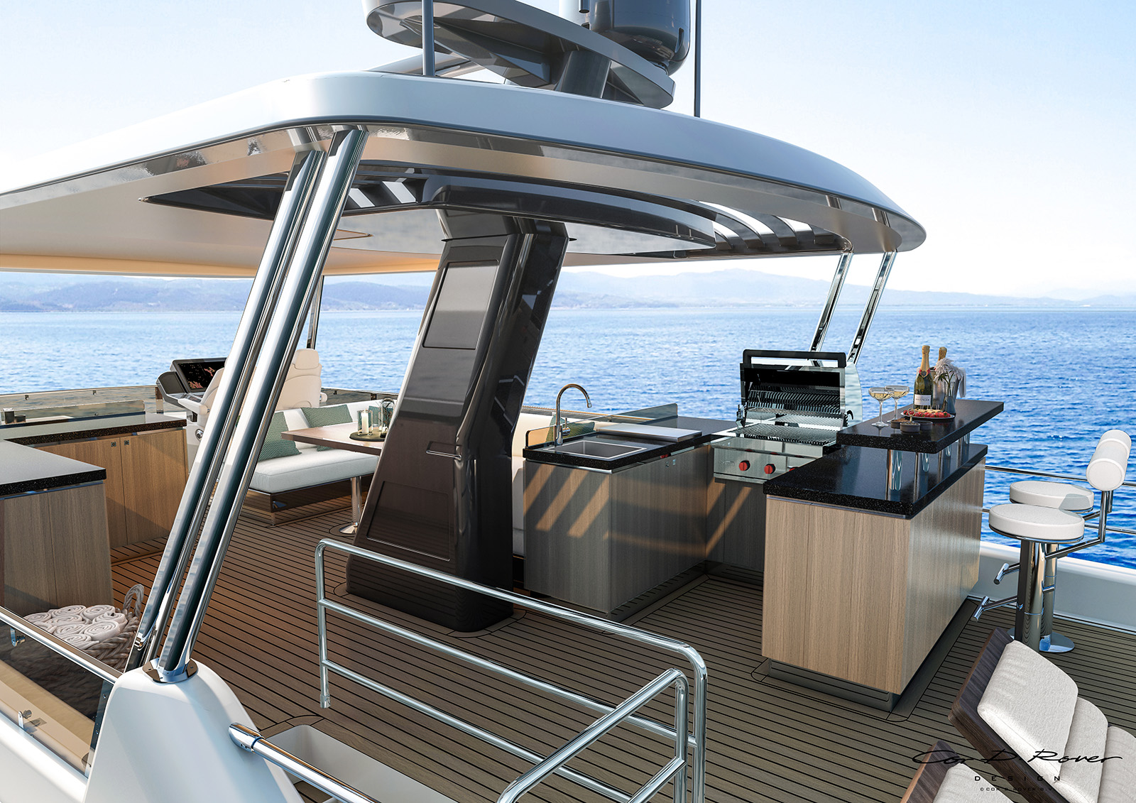 The view from the Sirena 68