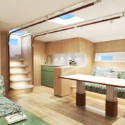 Below deck on the Baltic Yachts 68 Cafe Racer