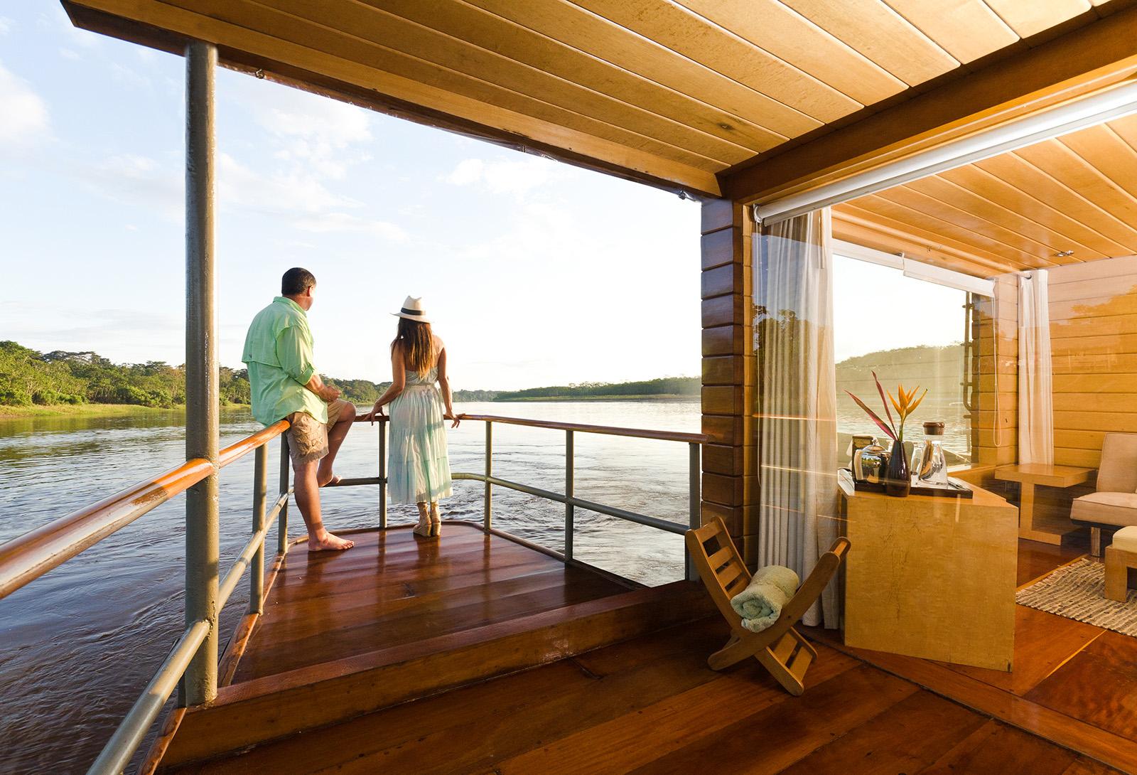 Cruising the Amazon River aboard the Delfin