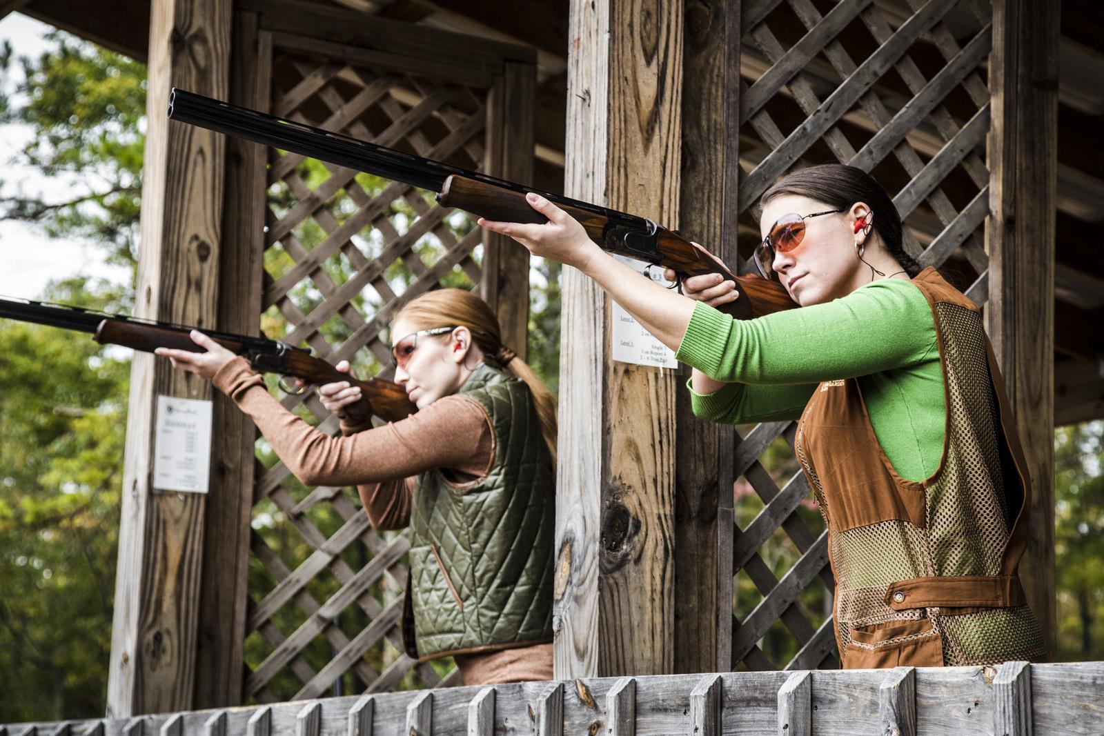 Sport shooting on the grounds of Barnsley Resort