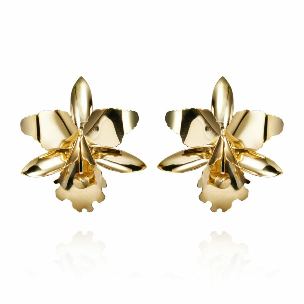 Gold Orchid Earrings scaled
