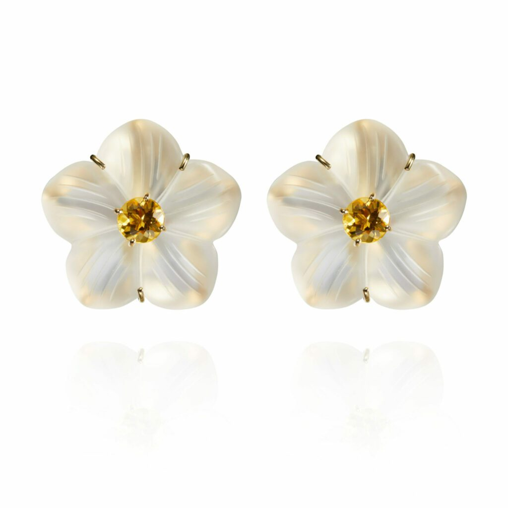 Gold Yellow Beryl Daisy Earrings scaled scaled