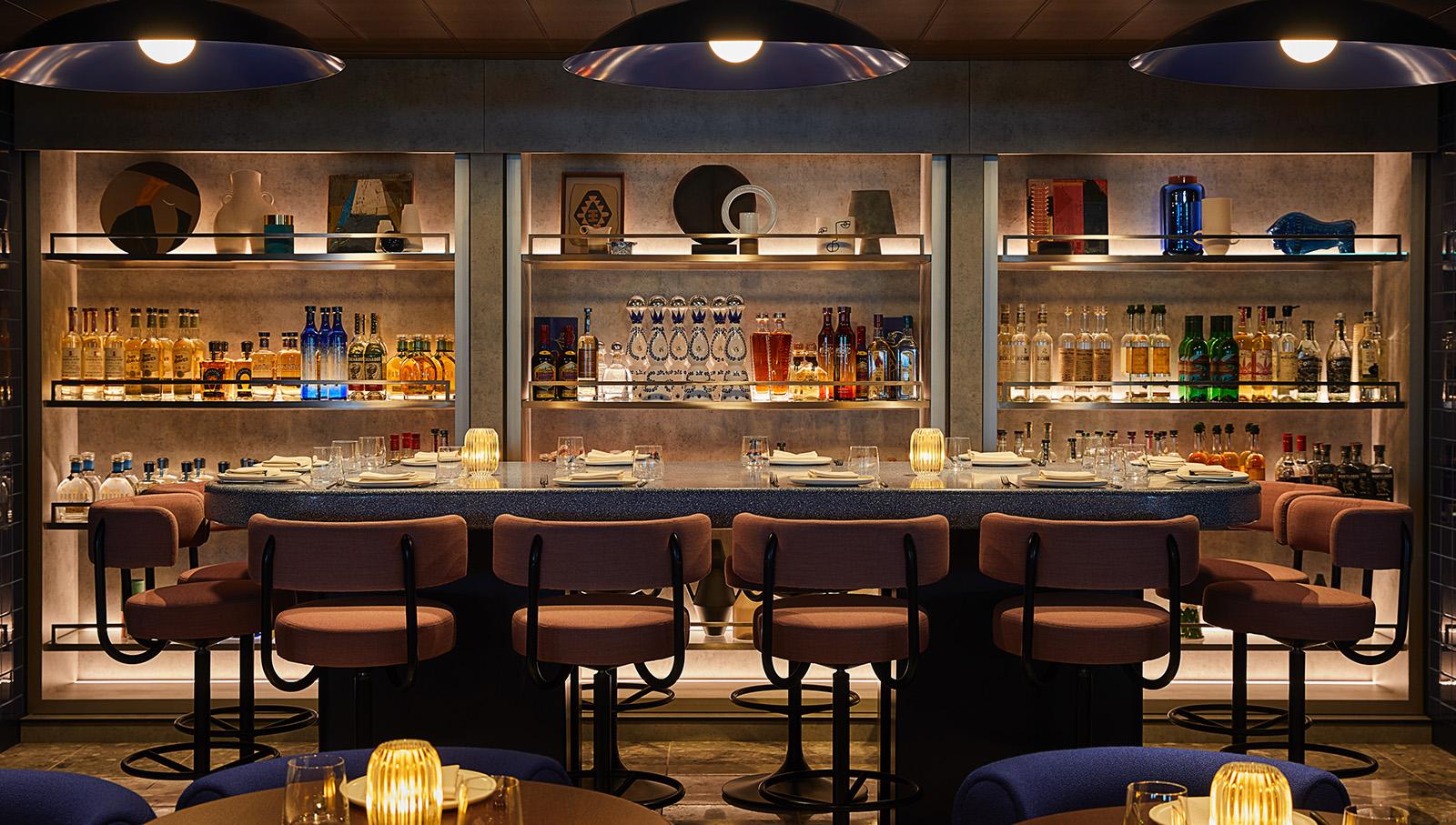 Mezcal Bar aboard Virgin Voyages' Scarlet Lady