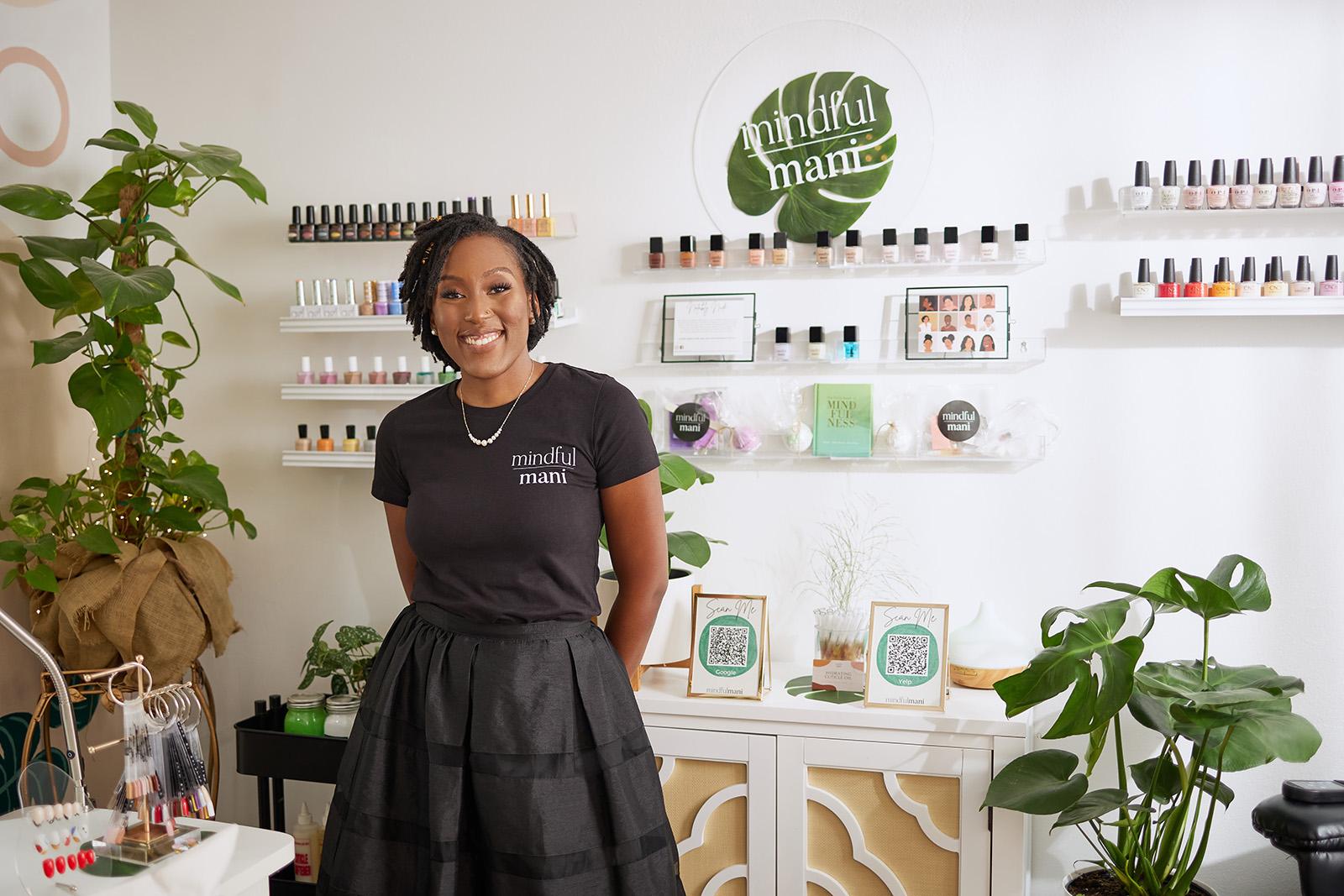 Lauren Johnson, owner of Mindful Mani