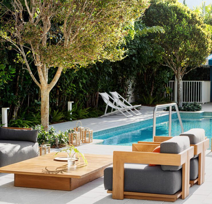 Poolside at the Kimpton Goodland in Fort Lauderdale