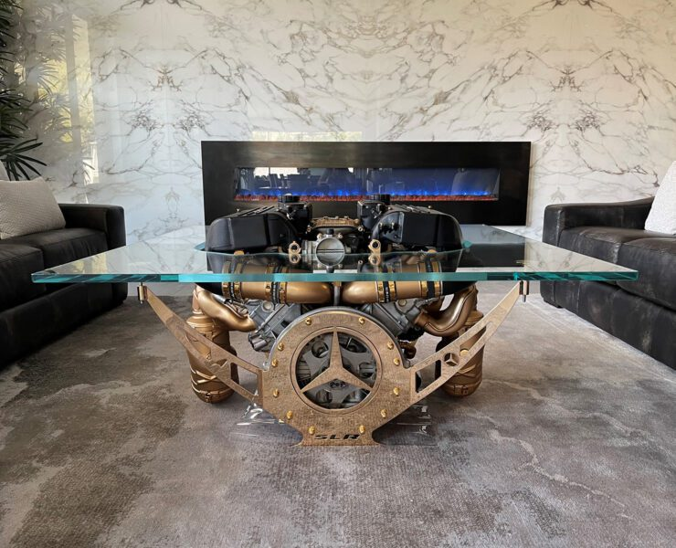 Engine table by Tom Bates Design